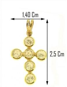 COLLANA CROCE - Donna Oro Giallo 18 Kt Carati Ct 750