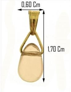 PENDENTE PUNTO LUCE ROSA - Donna Oro Giallo 18 Kt Carati Ct 750