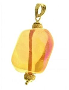 PENDENTE CRISTALLO - Oro Donna Oro Giallo 18 Kt Carati Ct 750