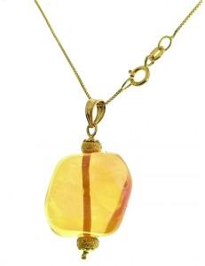 COLLANA CRISTALLO - Oro Donna Oro Giallo 18 kt Carati Ct 750