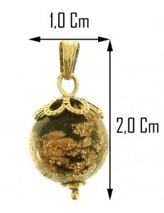 COLLANA SFERA NERA - Donna Oro Giallo 18 kt Carati Ct 750