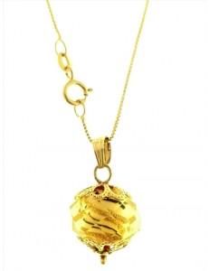 Collana Catenina Cristallo di Murano Donna Oro Giallo 18 Kt Carati Ct 750 2,70Gr