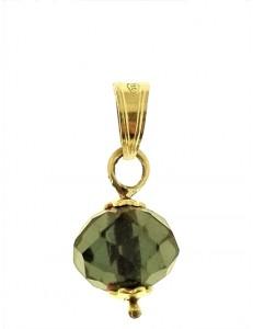 PENDENTE SOLITARIO ROSSO - 7 colori oro Giallo Donna 18 Kt Carati Ct 750