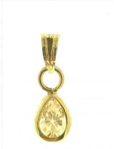 Ciondolo Pendente Donna Oro Giallo 18 Kt Carati Ct 750 0,65 Gr Punto Luce