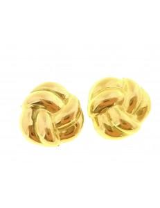 Orecchini Donna Oro Giallo 18 KT Ct Carati 750 2,4 Gr Nodo D'amore
