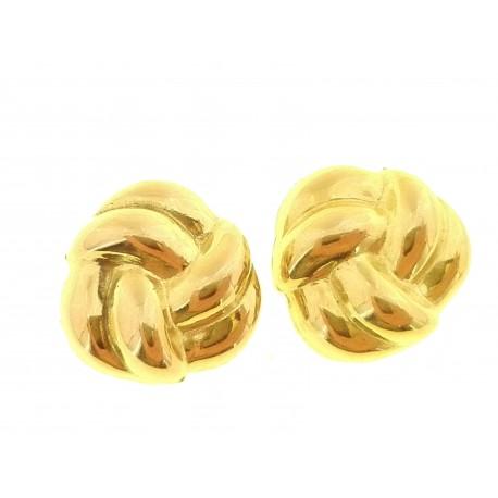 ORECCHINI ORO GIALLO - Orecchini Donna Oro Giallo 18 KT Ct Carati 750 2,5 Gr Nodo D'amore