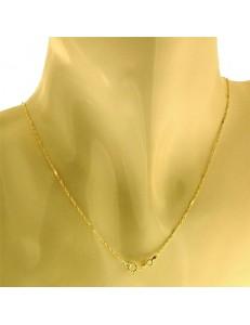 Collana Catenina Uomo Donna Unisex Oro Giallo 18 Kt Carati 750 1,20 Gr 50 Cm