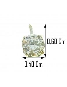 PENDENTI ORO BIANCO - Ciondolo Pendente Donna Oro Bianco 18 Kt Carati 750 0,25 Gr Solitario Punto Luce