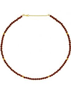 Collana Semirigida Donna Radici di Rubini Oro Giallo 18 kt Carati Ct 750 11,50Gr