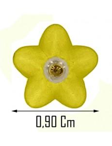 Orecchini Fiore Bimba Bambina oro 18 Kt 750 0,65 Gr