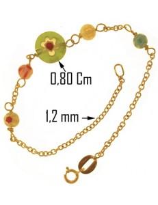 BRACCIALE MURRINA TONDO - 15,0 Cm Oro Giallo 18 Kt Carati Ct 750 1,40 Gr