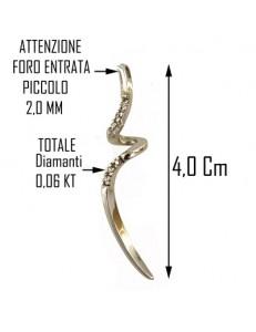 COLLANA DIAMANTI - 0,06 Ct Donna Oro Bianco 18 Kt Carati 750