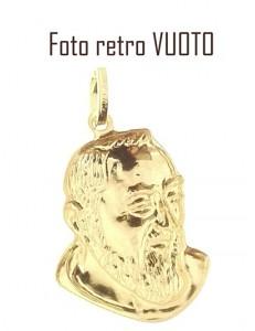 PENDENTE SAN PADRE PIO - Uomo Donna Oro Giallo 18 Kt Carati Ct 750