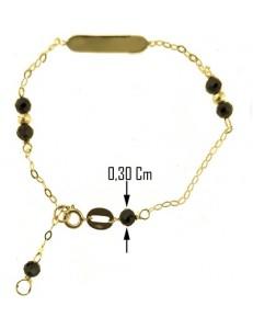BRACCIALE TARGA BIMBO - Bimbo Bambina Oro Giallo 18 Kt Carati Ct 750