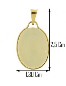 COLLANA OPALE - Cabochon Donna Oro Giallo 18 Kt Carati Ct 750