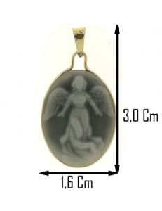 PENDENTE ANGELO PROTETTORE - oro Giallo 18 Kt Carati Ct 750