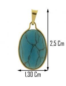 COLLANA TURCHESE - Donna Oro Giallo 18 Kt Carati Ct 750