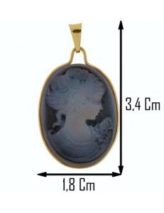 COLLANA CAMMEO - Donna Oro Giallo 18 Kt Carati Ct 750