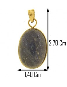 PENDENTE CABOCHON LAPIS - Donna Oro Giallo 18 Kt Carati Ct 750