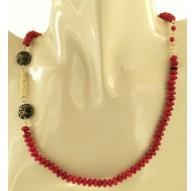 Collana Catenina Catena Corallo Donna Oro Giallo 18 Kt Carati Ct 750 21,70 Gr