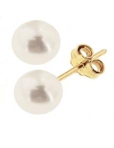 Orecchini Bambina Donna 0,55 Gr perle oro Giallo 18 kt 750