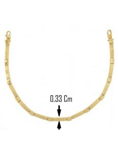 BRACCIALI UNISEX - Bracciale Braccialetto Uomo Donna Unisex Oro Giallo 18 kt Carati Ct 750 7,30 Gr
