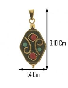 COLLANA ETNICA TIBETANA - Donna Oro Giallo 18 Kt Carati Ct 750
