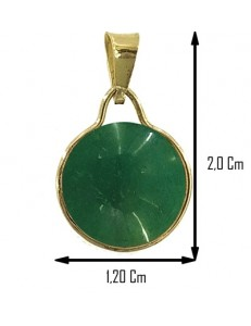 PENDENTE ROTONDO PICCOLO GIADA - Donna  Oro Giallo 18 Kt Carati Ct 750