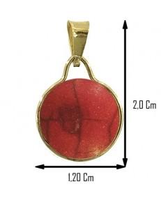 COLLANA CABOCHON ROSSO - Donna Oro Giallo 18 Kt Carati 750