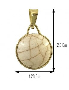 PENDENTE UNAKITE - Donna  Oro Giallo 18 Kt Carati Ct 750