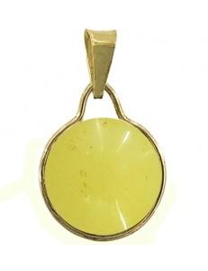 PENDENTE CABOCHON - Donna  Oro Giallo 18 Kt Carati Ct 750