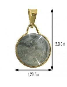 PENDENTE CABOCHON GRIGIO - Donna Oro Giallo 18 Kt Carati Ct 750