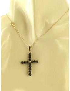 COLLANE UNISEX - Collana Catena 50 Croce Uomo Donna Oro Giallo Bianco 18 kt Carati Ct 750 2,75 Gr