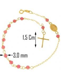 Bracciale Braccialetto Rosario Donna Oro Giallo 18 Kt Carati Ct 750