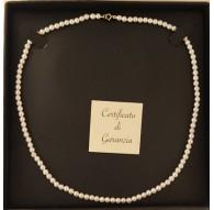 Collana Girocollo Donna 47 Cm Perle  Oro Giallo 18 Kt Carati Ct 750