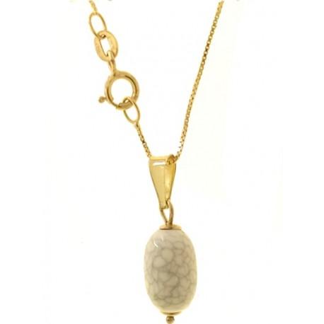 Collana catenina Donna Oro Giallo 18 Kt Carati Ct 750 1,35 Gr