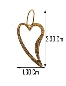 PENDENTE CUORE - Donna Oro Giallo18 Kt Carati Ct  750