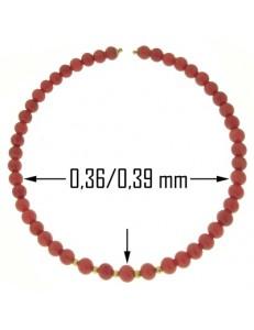 Bracciale Braccialetto Donna Corallo Semirigido Oro Giallo 18 Kt Carati Ct 750