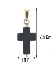 Collana Catenina 45cm Croce Uomo Donna Oro Giallo 18 kt Carati Ct 750 2,20 Gr