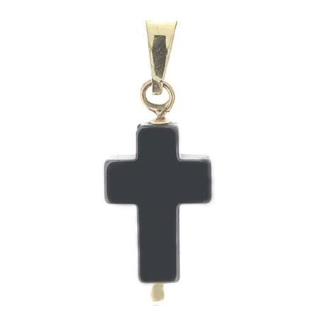 Ciondolo Pendente Croce Uomo Donna Oro Giallo 18 Kt Carati 750 1,50 Gr