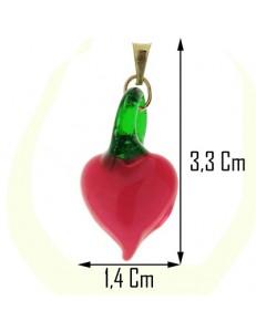 Collana Catenina 45cm Cuore Donna Oro Giallo 18 kt Carati Ct 750 3,40 Gr