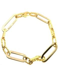 BRACCIALI DONNA - Bracciale Braccialetto Donna Oro Giallo Bianco 18 Kt Carati Ct 750 5,90 Gr