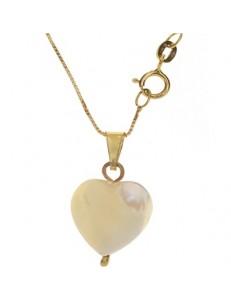 collana catenina Cuore oro Giallo Donna 18 Kt Carati 750 1,90 Gr
