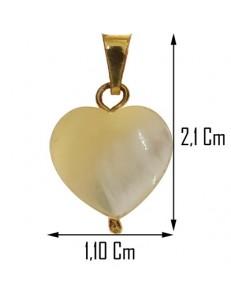 Collana Ciondolo Pendente Cuore Oro Giallo 18 Kt Carati Ct 750 1,2 Gr