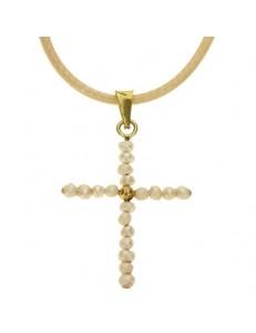 Collana Laccio Pendente Perle  Donna Oro Giallo 18 kt Carati 750  0,55 Gr