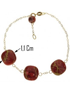 Bracciale Braccialetto Donna Oro Giallo 18 Kt Carati Ct 750 1,9 Gr